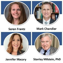 Speakers of the COVID-19 Impact Session at SCC74: Seren Frantz (Lubrizol),  Mark Chandler (ACT Solutions Corp), Jennifer Macary (Henkel), and Stanley Milstein  (FDA)